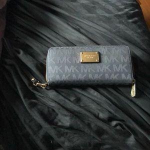 Blue michael Kors wallet/wristlet